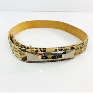 Carlisle Snakeskin Leather Belt